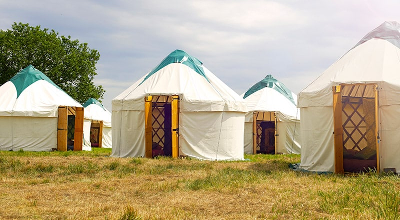 Structure Hire - Accommodation Yurts