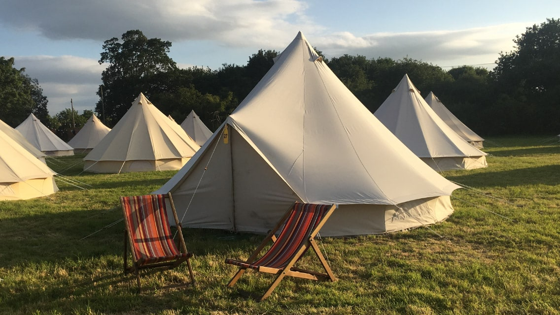 Bell Tent Hire - Deck Chair