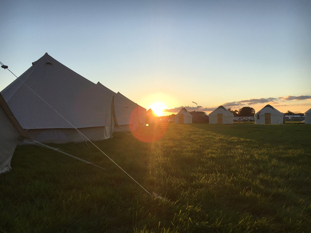 Bell Tent Hire - Sunset