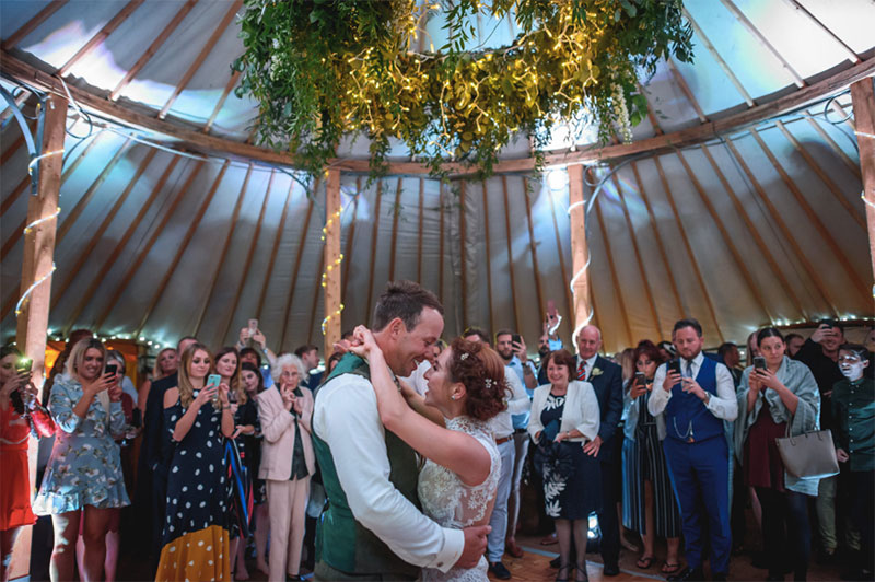 Yurt hire UK | wedding yurt, happy couple