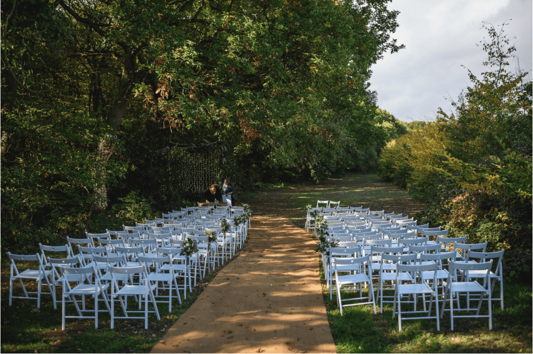 Festival Wedding - Outdoor seating