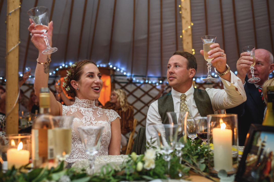 Festival Wedding - Cheers