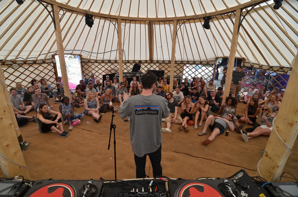 Large Yurt - Comedian Jack Berry