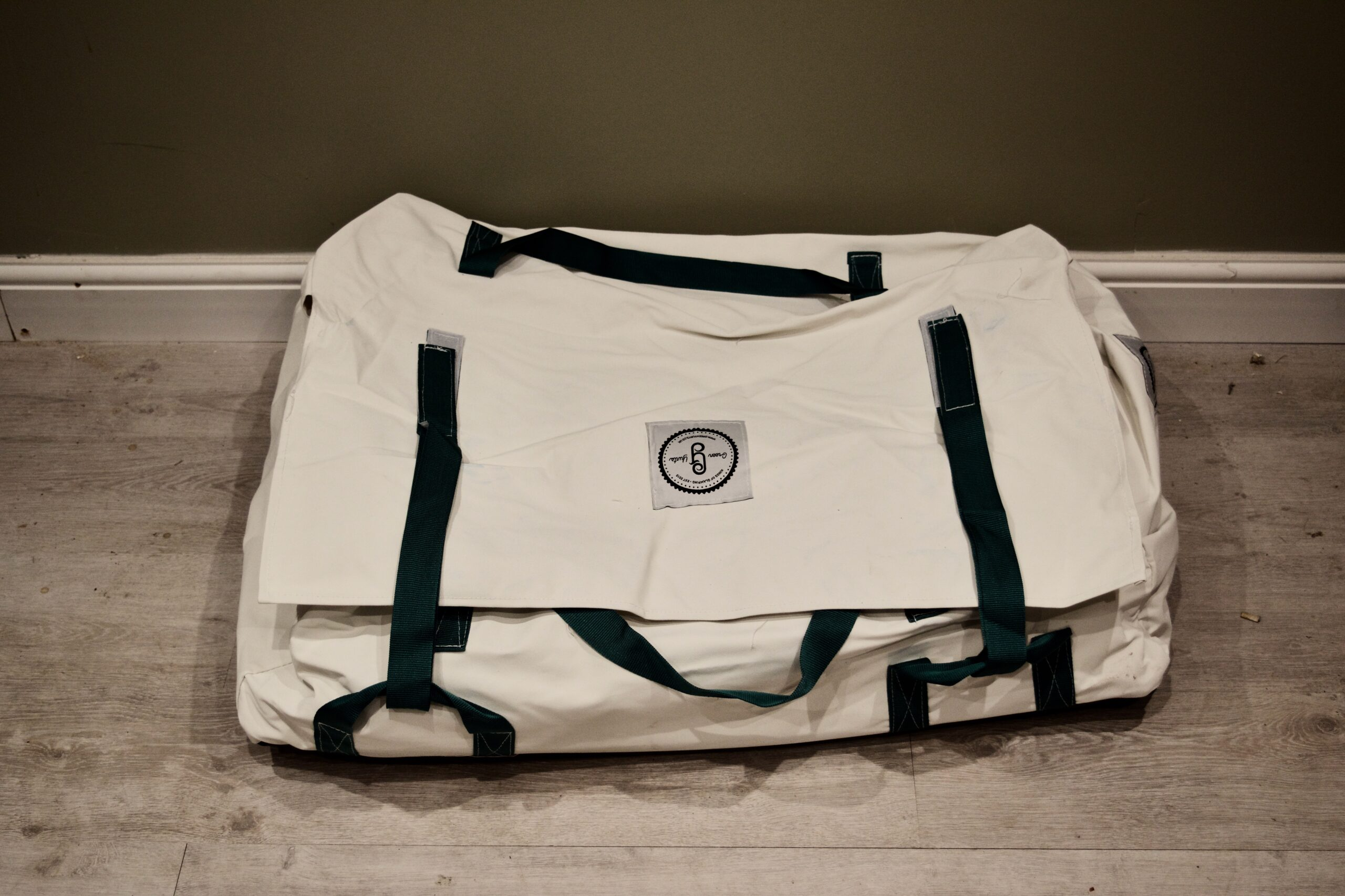 Our heavy duty canvas bag, made to hold the cover