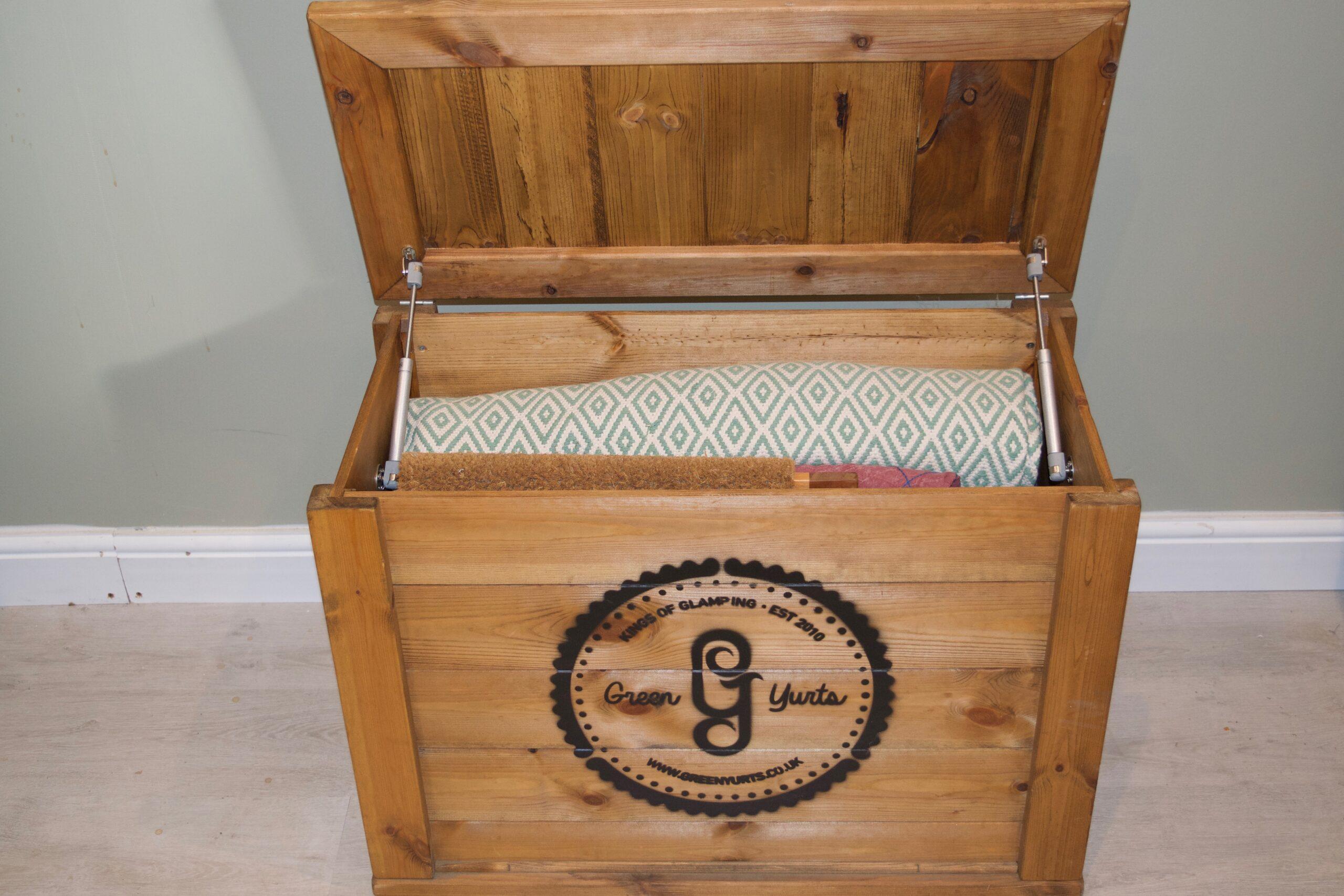 Yurt wooden storage chest