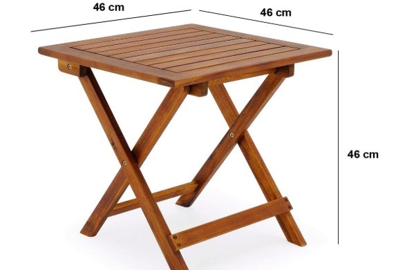 Folding wooden tables, perfect for a bedside table